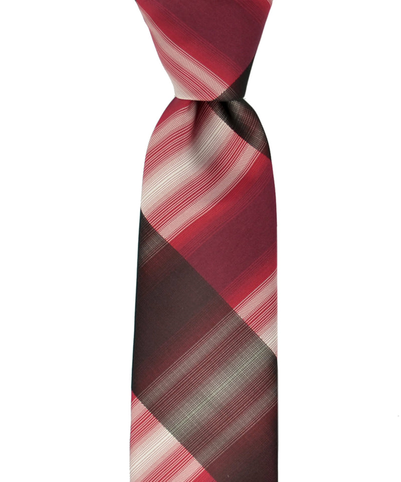 Slim Black and Red Necktie and Pocket Square - tiepassion