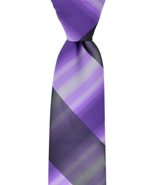 Slim Black and Purple Necktie and Pocket Square - tiepassion