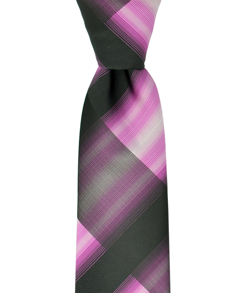Slim Black and Pink Necktie and Pocket Square - tiepassion
