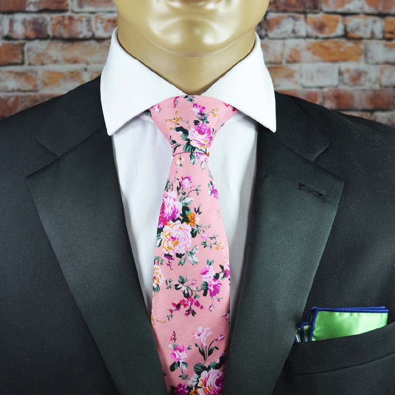 Bridal Rose Floral Cotton Men's Tie by TiePassion