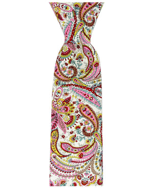 Red, Pink and Aqua Paisley Necktie - tiepassion