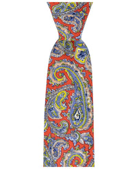 Tango Red Paisley Cotton Men's Tie by TiePassion