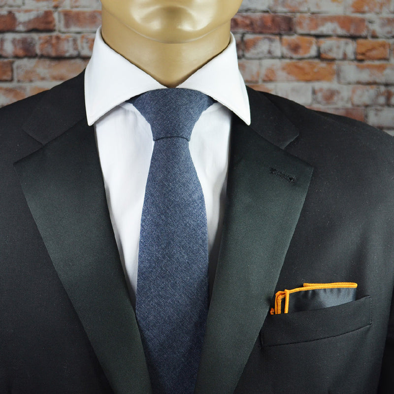 Classic Charcoal Solid Cotton Men's Tie by TiePassion