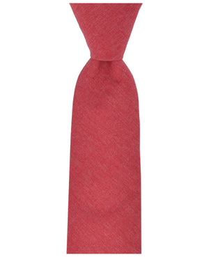 Pompeian Red Solid Cotton Men's Tie by TiePassion