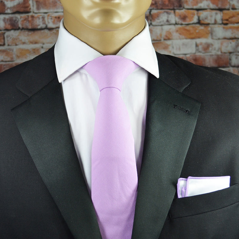 Orchid Smoke Pink Solid Cotton Men's Tie by TiePassion