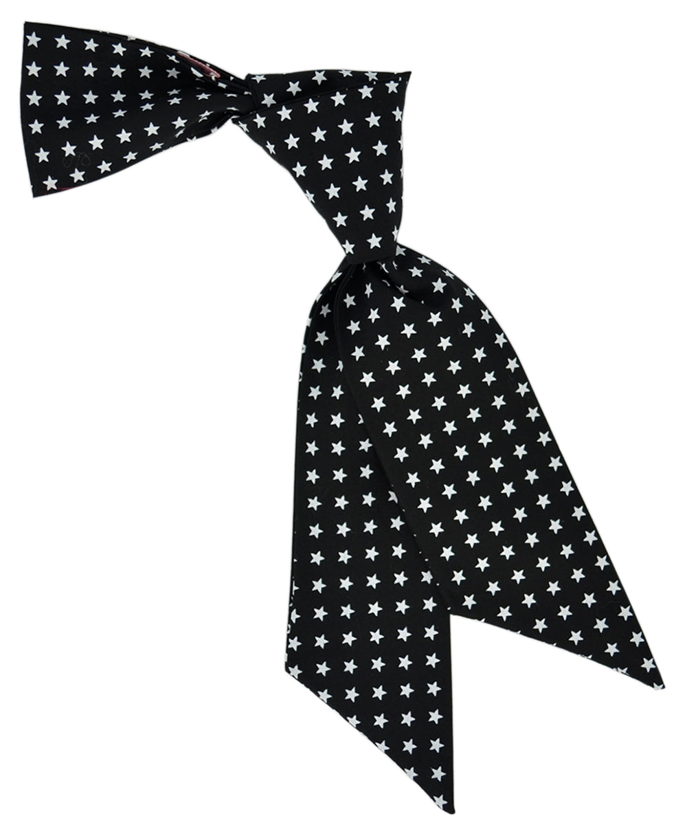Black and White Star Pattern Hair Sash - tiepassion