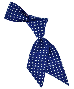 Navy and White Star Pattern Hair Sash - tiepassion