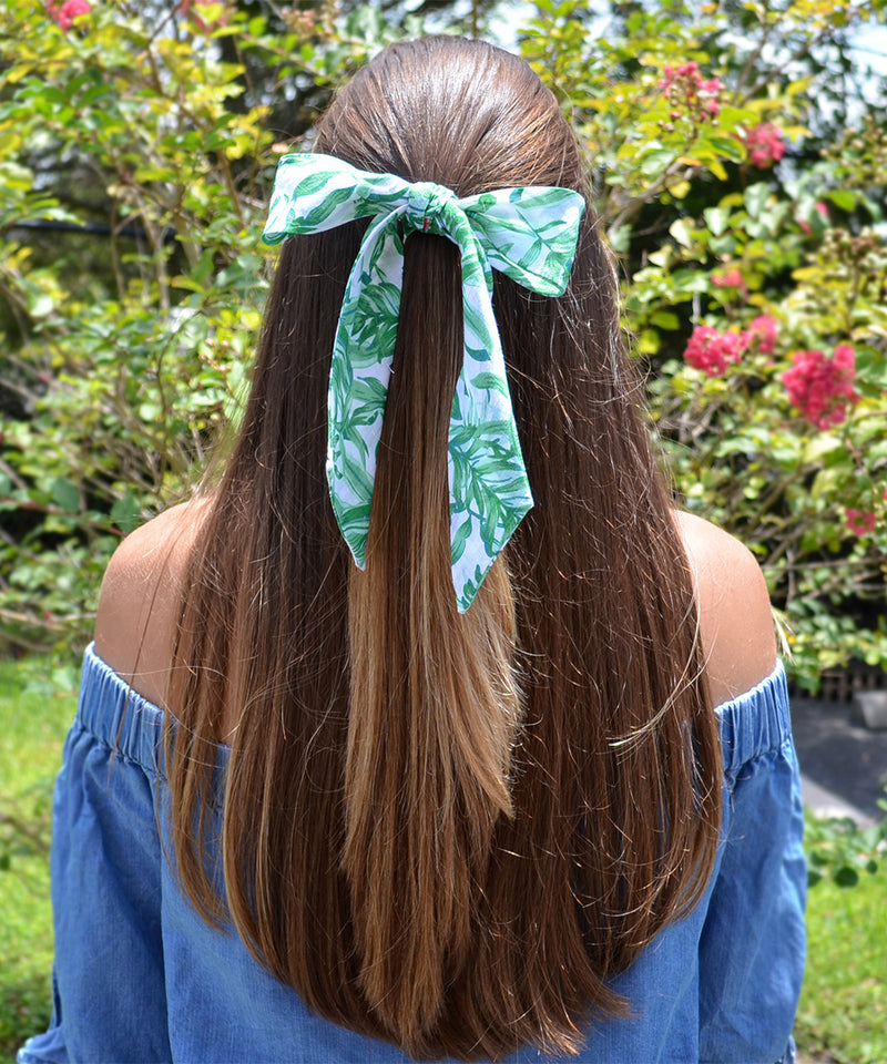 Aloe Green Patterned Women's Hair Tie - tiepassion