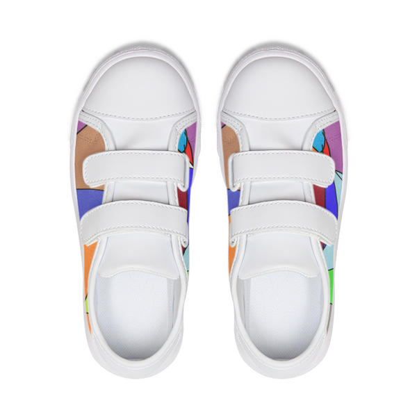Multi-colored Low-top Kids Velcro Sneaker