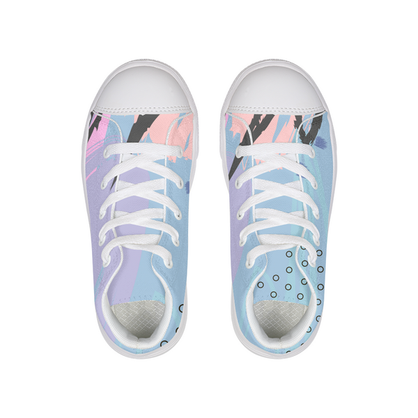 Pastel Vibes Kids Hightop Canvas Shoe