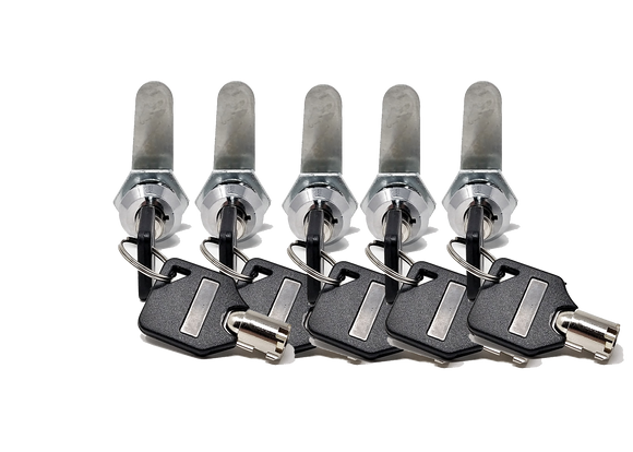 Tubular Key Lock Pack of 5 Keyed Alike
