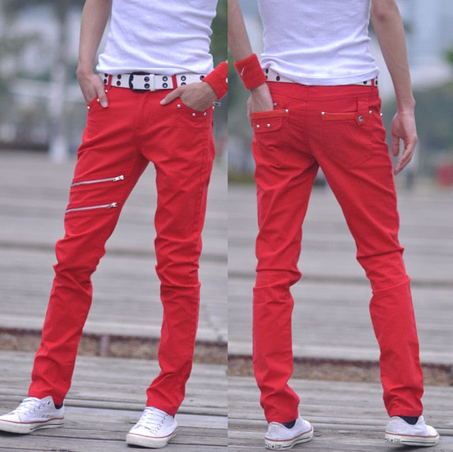 Male Casual Spring Summer Men's Casual Pants Slim