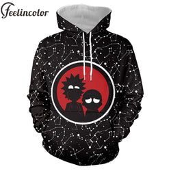 Feelincolor Rick and Morty Hoodies Men 3D Printed Hoody