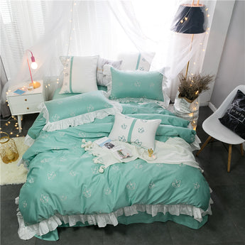 Luxury Egypt Bed Sheet Pillowcases Queen King size