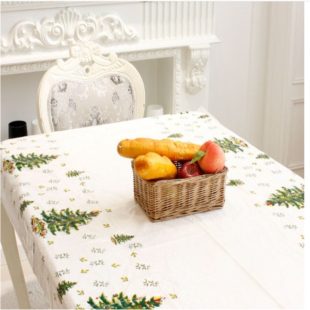 Beautiful Christmas Cartoon Pattern Table Cloth