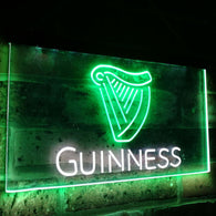 Guinness Ale Beer Bar Decoration Gift Dual Color Led Neon Light