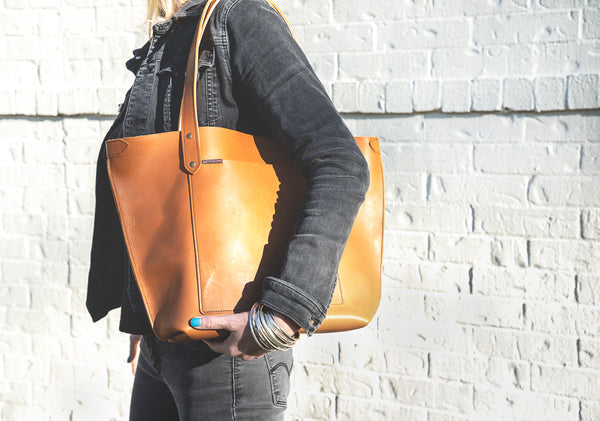 Marquis Leather Tote (Smooth Tan)