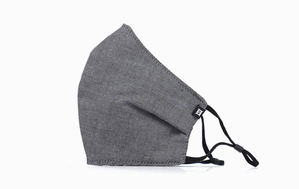 Summer Cotton / Ear Elastic (Charcoal Chambray)