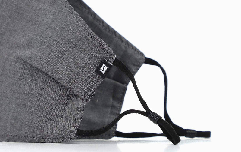 Summer Cotton Charcoal Chambray w/ Nose Wire