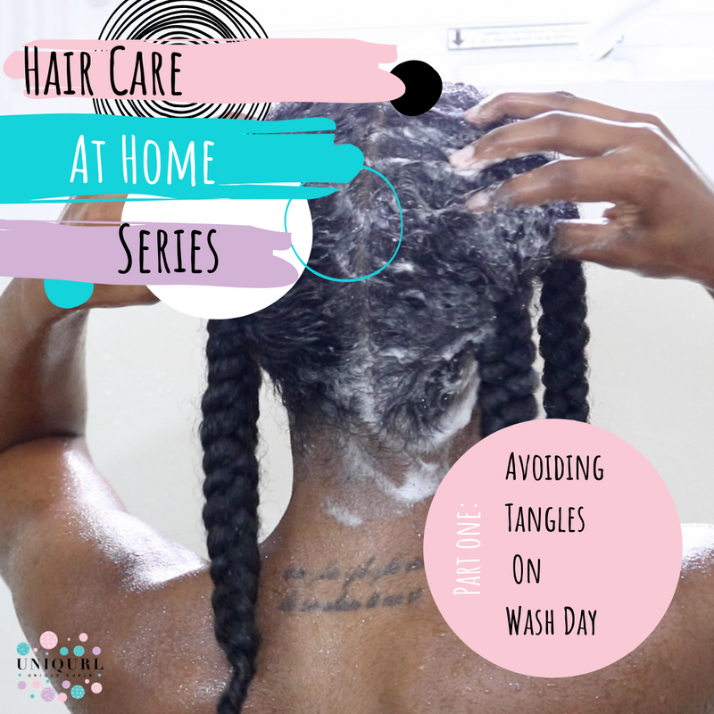 Hair Care At Home Series: Avoiding Tangles On Wash Day