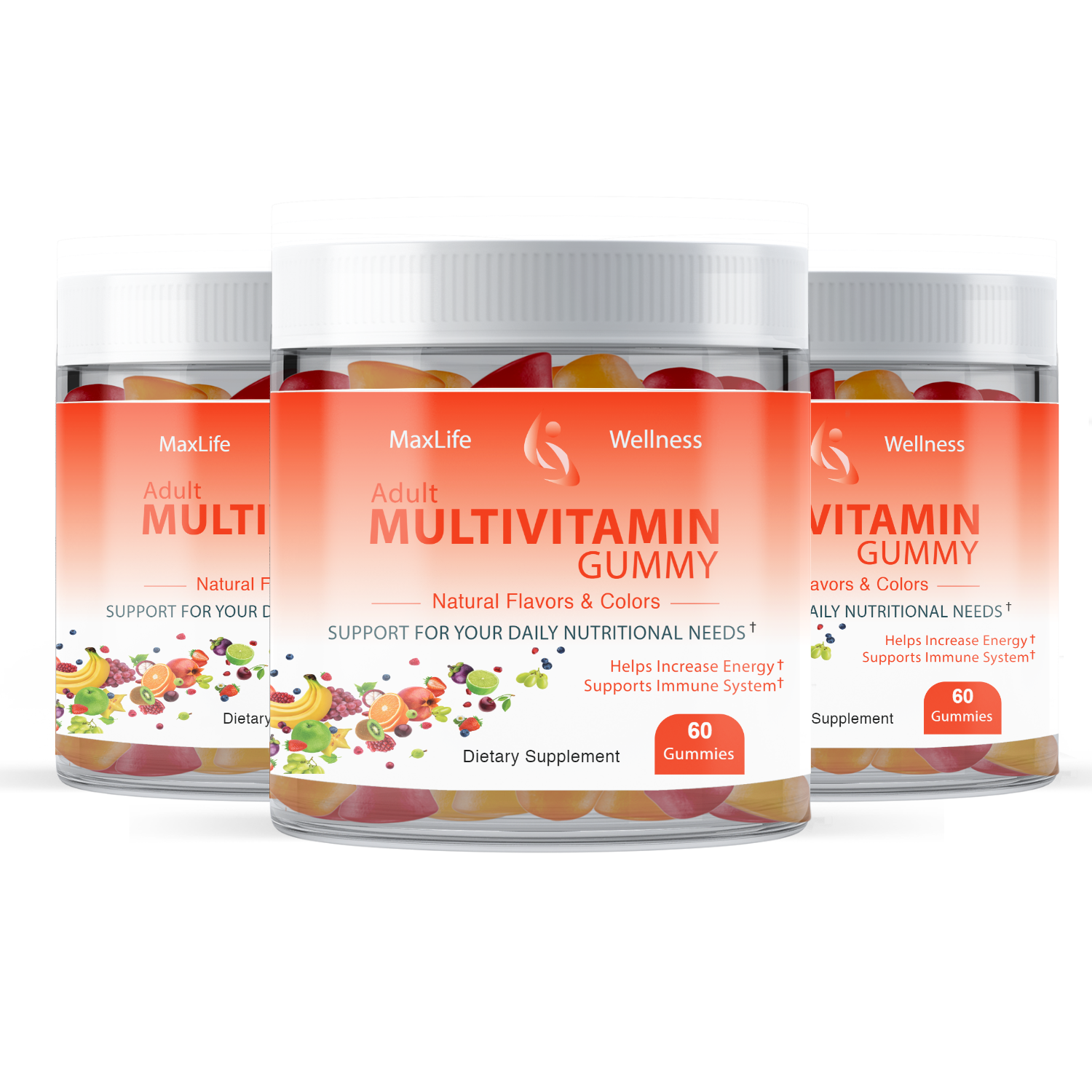 Adult Multi Vitamin Mixed Flavor Gummies
