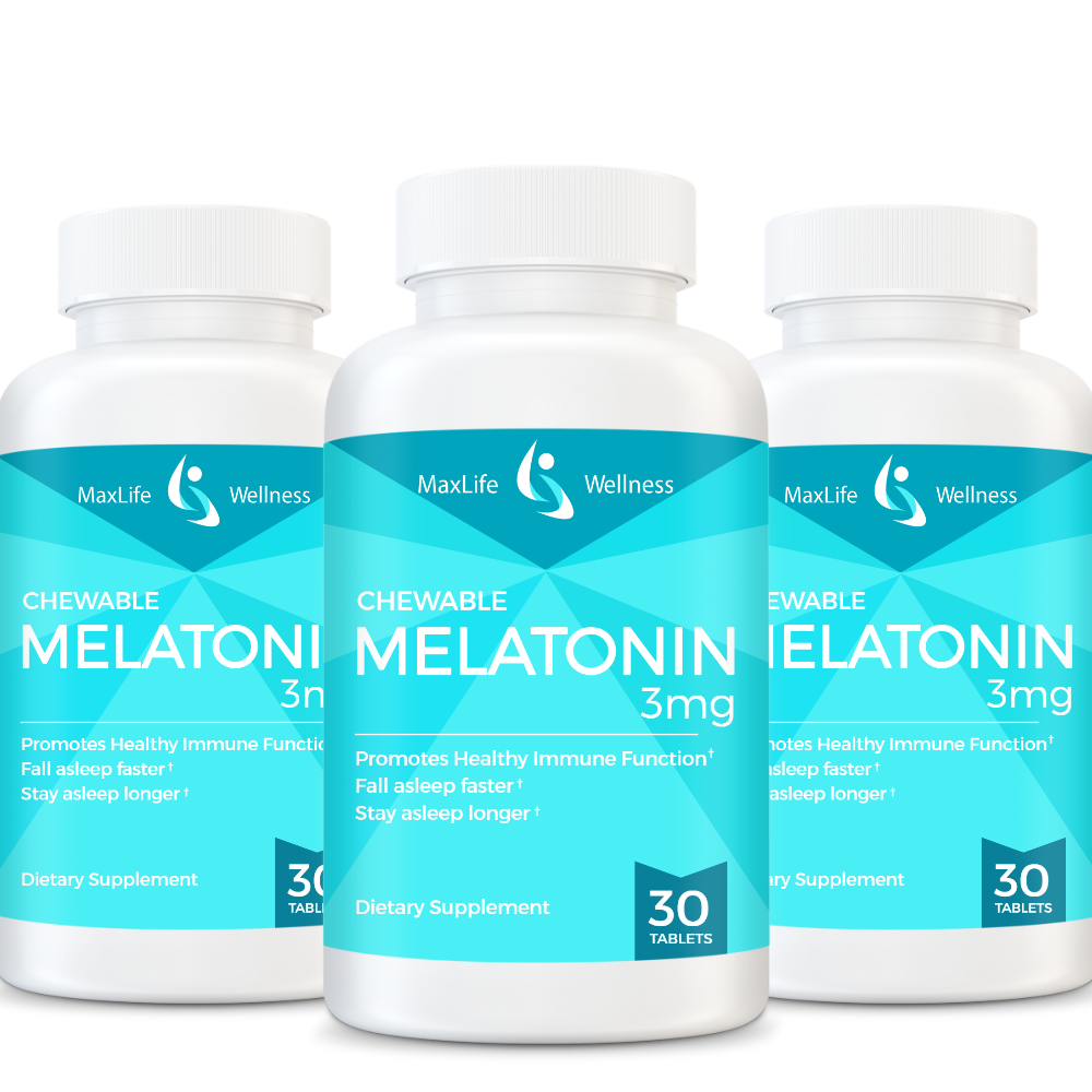Melatonin - 3mg Chewable, 1 serv. sz.