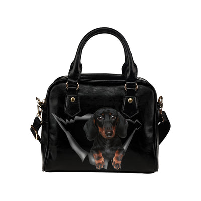 Dachshund Shoulder Handbag V1