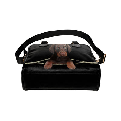 Doberman Pinscher Shoulder Handbag V3