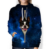 Boston Terrier Galaxy Hoodie V1