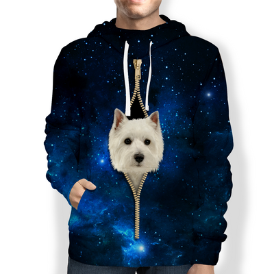 West Highland White Terrier Galaxy Hoodie V1
