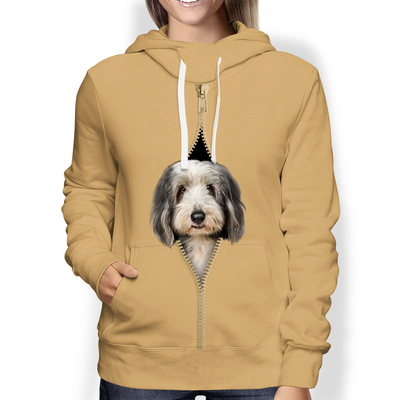 I'm With You - Bearded Collie Hoodie V1