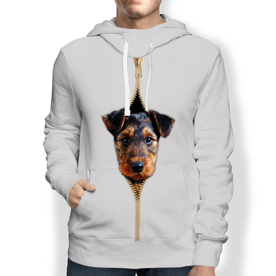 I'm With You - Airedale Terrier Hoodie V2