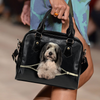 Bearded Collie Shoulder Handbag V2