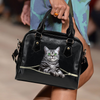 British Shorthair Cat Shoulder Handbag V2