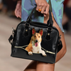 Smooth Collie Shoulder Handbag V2