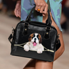 St. Bernard Shoulder Handbag V1