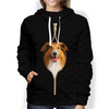 I'm With You - Rough Collie Hoodie V2