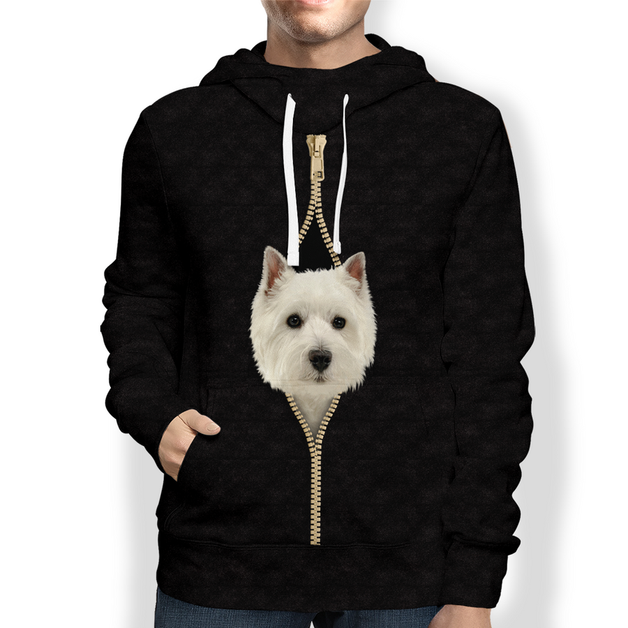 I'm With You - West Highland White Terrier Hoodie V2