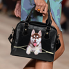 Siberian Husky Shoulder Handbag V3