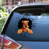Get In - It's Time For Shopping - Airedale Terrier Car/ Door/ Fridge/ Laptop Sticker V1