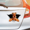 We Like Riding In Cars - Airedale Terrier Car/ Door/ Fridge/ Laptop Sticker V1