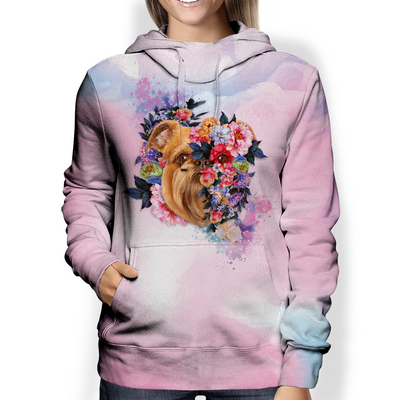 Griffon Bruxellois Hearts Are Beautiful Flowers - Hoodie V1