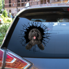 Get In - It's Time For Shopping - Goldendoodle Car Sticker V1
