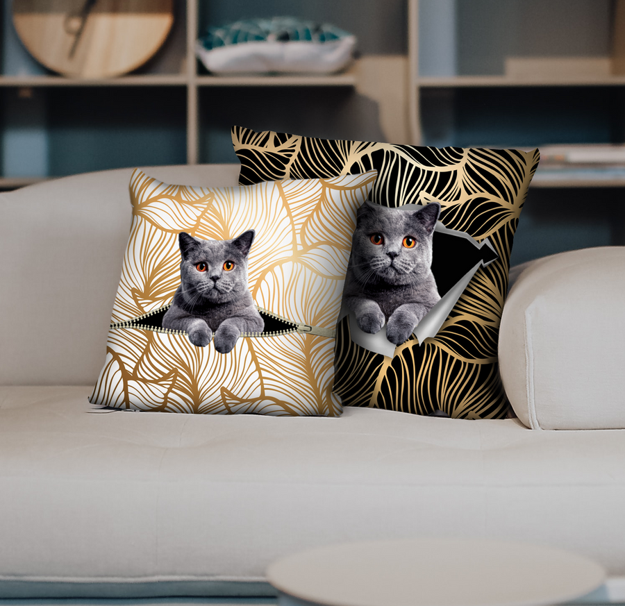 They Steal Your Couch - British Shorthair Cat Kussenslopen V1 (set van 2)