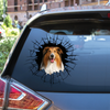 Get In - It's Time For Shopping - Rough Collie Car Sticker V1