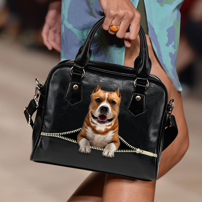 American Staffordshire Terrier Shoulder Handbag V3