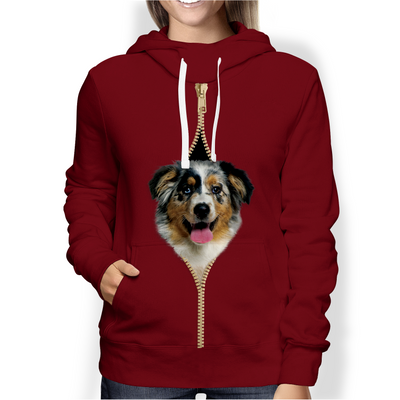 I'm With You - Australian Shepherd Hoodie V3