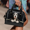 Bearded Collie Shoulder Handbag V1