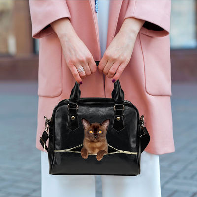 Burmese Cat Shoulder Handbag