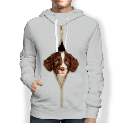 I'm With You - English Springer Spaniel Hoodie V2